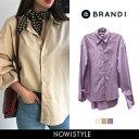 BRANDI(ブランディ)ベルスリーブデイリーシャツ【3/22up_wo】韓国 韓国ファッション ベルスリーブ シャツ デイリー…