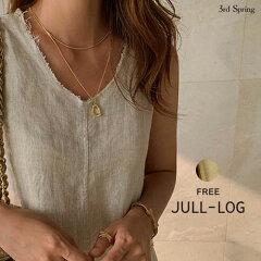 JULL-LOG(ジュローグ)2ネックレスセット【8/2up_wo】韓国韓国ファッション二連ネックレスゴールドアクセサリープチプラオトナカジュアルジュエリー華奢重ね付けアクセパーティナンニングレディース【7】