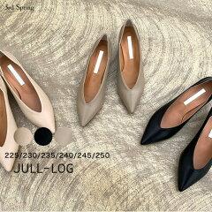 JULL-LOG(ジュローグ)ローヒールシューティ【8/2up_wo】【送料無料】韓国韓国ファッションローヒールパンプス通勤シューズ結婚式靴オトナカジュアルシューティオケージョンヒールナンニングレディース【7】