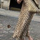 【アウトレットSALE】JULL-LOG(ジュローグ)レオパードスリムAラインスカート【8/2up_wo】韓国 韓国ファッション レオ…