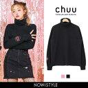 CHUU(チュー) Love donut pola tee【2/10up_mo】韓国 韓国ファッション トップス スウェット ハイネック パーカー パステル CHUUオリジナル商品 トレーナー 胸ポケ