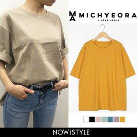 021e2ca0fe9b0 MICHYEORA(ミチョラ)365日Tシャツ メール便 韓国 韓国ファッション ベーシック