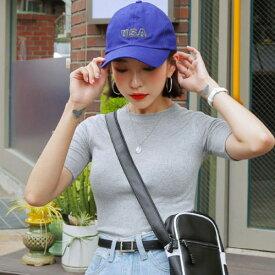 MERONGSHOP(メロンショップ)USAキャップ 韓国 韓国ファッション 帽子 キャップ ベースボールキャップ スナップバック カラー ロゴキャップ 夏 双子コーデ ペアルック   ファッション【あす楽】※メール便不可