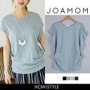 JOAMOM(ジョアマム)シャーリングTシャツ【6/9up_go】韓国 韓国ファッション シャーリングキャップスリーブ トップス …