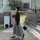 MAYBLUE(メイブルー)ギンガムチェックドッキングワンピース【10/9up_PSH】ワンピース ドッキングワンピース チェッ…