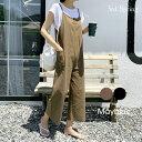 MAYBLUE(メイブルー)ワイドパンツサロペット【5/25up_go】韓国 韓国ファッション パンツ ボトムス サロペット ワ…