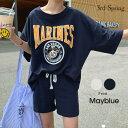 MAYBLUE(メイブルー)MARINトレーニングセット【6/9up_go】韓国 韓国ファッション セットアップ トレーニングウェア…
