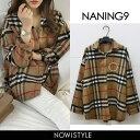 NANING9(ナンニング)タータンチェックシャツ【12/6up_go】【送料無料】韓国 韓国ファッション シャツ チェック 柄 ト…