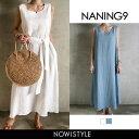 NANING9(ナンニング)2wayリネンロングワンピース【7/20up_go】【送料無料】韓国 韓国ファッション ロングワンピース …