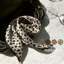 NANING9(ナンニング)レオパード柄スカーフ【9/6up_go】【メール便】韓国 韓国ファッション レディース スカーフ レオ…