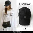 NANING9(ナンニング)シルバーデコキャップ【3/14up_go】韓国 韓国ファッション 帽子 キャップ ベースボールキャップ ブラック ホワイト 白 黒 ...