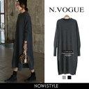 N.Vogue(エヌヴォーグ)クルーネックニットワンピース【12/14up_mo】【送料無料】韓国 韓国ファッション ワンピース …