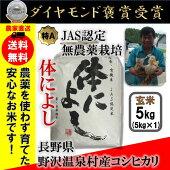29年産玄米2kgコシヒカリ「体によし」野沢温泉村産JAS有機