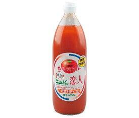送料無料 JA平取町 ニシパの恋人 トマトジュース (無塩) 1L瓶×6本入 ※北海道・沖縄は配送不可。