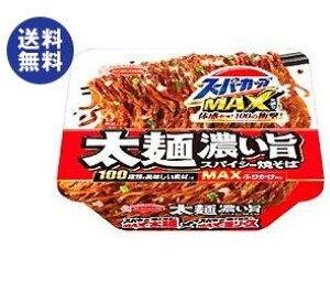 【送料無料】エースコック スーパーカップMAX 大盛り 太麺濃い旨スパイシー焼そば 176g×12個入 ※北海道・沖縄は別途送料が必要。