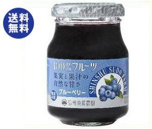 【送料無料】【2ケースセット】スドージャム 信州須藤農園 100%フルーツ ブルーベリー 190g瓶×6個入×(2ケース) ※北海道・沖縄は別途送料が必要。