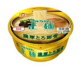 送料無料 東洋水産 マルちゃん正麺 カップ 濃厚とろ豚骨 116g×12個入 ※北海道・沖縄は配送不可。