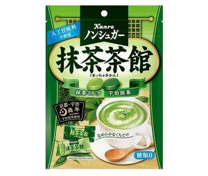 送料無料 カンロ ノンシュガー抹茶茶館 72g×6袋入 ※北海道・沖縄は別途送料が必要。
