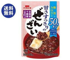 送料無料 【2ケースセット】イチビキ 甘さすっきりの糖質・カロリー50%オフぜんざい 160g×20(10×2)袋入×(2ケース) ※北海道・沖縄は配送不可。