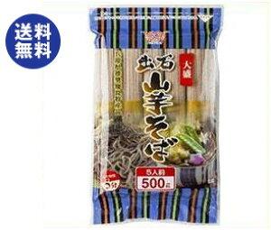 送料無料 田靡製麺 大盛出石山芋そば 500g×12袋入 ※北海道・沖縄は別途送料が必要。