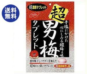 送料無料 【2ケースセット】ノーベル製菓 超男梅タブレット 30g×6袋入×(2ケース) ※北海道・沖縄は配送不可。