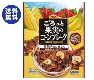 【送料無料】【2ケースセット】日清シスコ ごろっと果実のコーンフレーク 芳醇チョコ仕立て 200g×6袋入×(2ケース) ※北海道・沖縄は別途送料が必要。