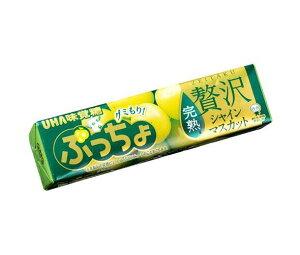 送料無料 UHA味覚糖 ぷっちょスティック 贅沢シャインマスカット 10粒×10個入 ※北海道・沖縄は配送不可。