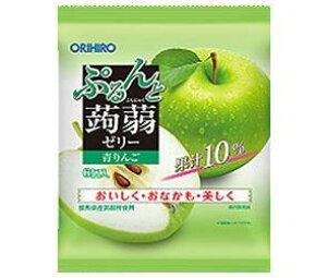 送料無料 オリヒロ ぷるんと蒟蒻ゼリー 青りんご 20gパウチ×6個×24袋入 ※北海道・沖縄は配送不可。