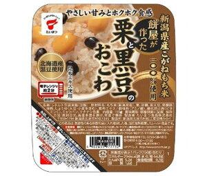 送料無料 たいまつ食品 餅屋が作った栗と黒豆のおこわ 150g×24(6×4)個入 ※北海道・沖縄は配送不可。