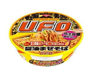 送料無料 日清食品 日清焼そばU.F.O. 濃い濃いラー油マヨ付き 醤油まぜそば 112g×12個入 ※北海道・沖縄は配送不可。