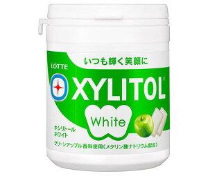 送料無料 ロッテ キシリトールホワイト グリーンアップル ファミリーボトル 143g×6個入 ※北海道・沖縄は配送不可。