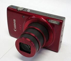 【中古】キャノン CANON IXY190 RE レッド コンパクトデジタルカメラ 10倍ズーム 美品 IXY(イクシー)[IXY190RE]元箱・SDHC8GB付き 【商品NO-03】
