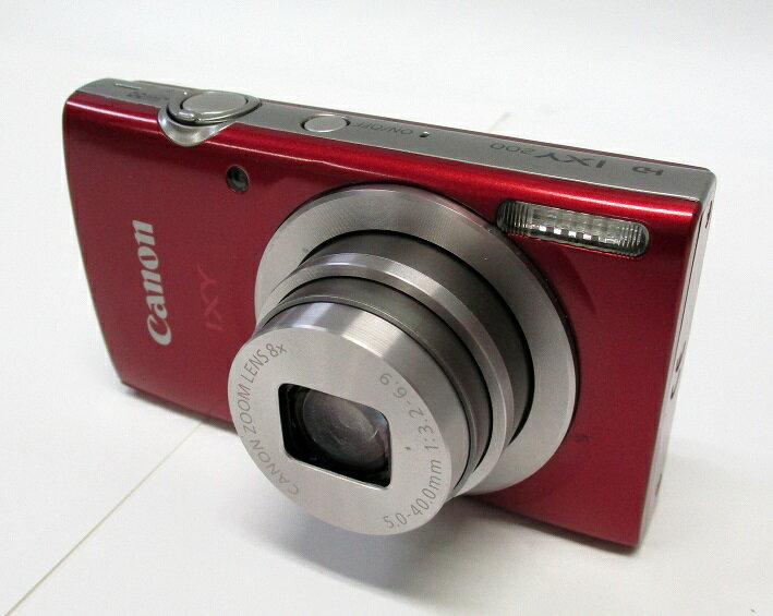 【中古】キャノン CANON IXY200 RE コンパクトデジタルカメラ IXY(イクシー)レッド[200RE] 元箱・8GB SDカード付き