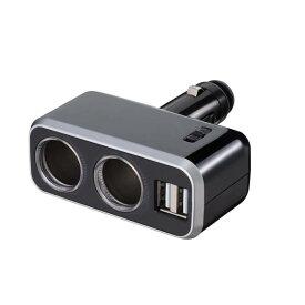 イルミソケット USBポート2口搭載 通電モニター付き ブラック/ナポレックス Fizz-991(注)本商品は代引き支払いでの、ご注文が出来ません。