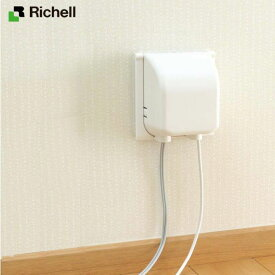 【直送品のため・代金引換・後払い不可】リッチェル/Richell ベビーガード コンセントフルカバー2連R