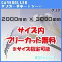ポリカーボネート板 ポリッシュ クリア(透明) 3mm厚2000mm×3000mm[サイズ内に変更可能]カーボグラス【AGC】【送料…