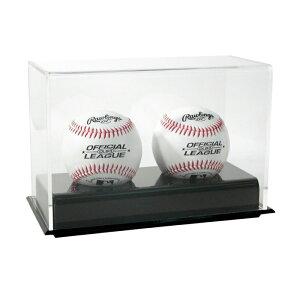 SAFTGARD ベースボールケース 展示ケース 野球ボール 2個用 UVプロテクト ディスプレイボールケース