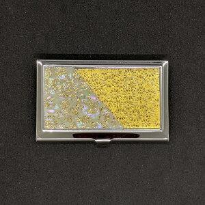 着物職人手作り 名刺ケース:本あわび白螺鈿・金箔