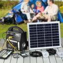 \ページ限定・マジッククロス付/ ソーラーホーム蓄電器セット 10889 【送料無料】 [ソーラー 非常用ライト 太陽光…