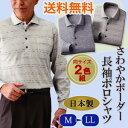 \ページ限定・マジッククロス付/ 日本製さわやかボーダー長袖ポロシャツ 同サイズ2色組 【送料無料・代引料無料】 …