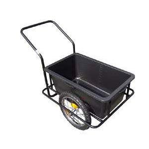 スチールリアカー[園芸・農作業に 2輪ノーパンクタイヤ 容量90L 水も運べる牽引キャリーカー アルミス AK-45]【送料無料】