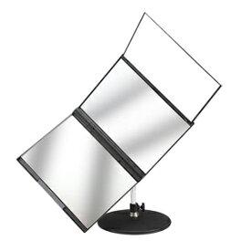 【在庫あり】\ページ限定・マジッククロス付/ 卓上三面鏡 大型ミラー メイクミラー【送料無料】【スリーウェイ回転ミラー】 後頭部 卓上スタンドミラー 回転式