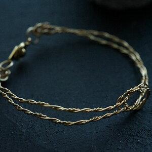 ワイヤーアートのシンプル華奢バングル ジュエリー アクセサリー レディース ワイヤーアート アーティスティックワイヤー ワイヤリング 華奢 装着感ゼロ 軽い