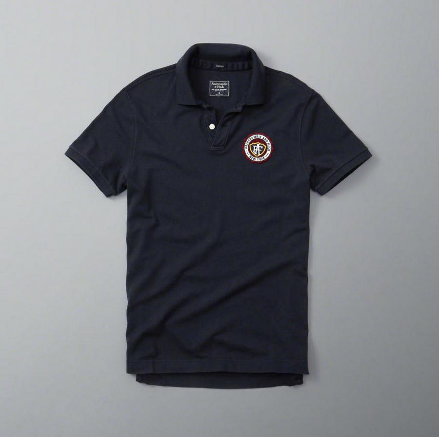 【期間限定値下げ】【送料無料】【新品】アバクロ【Mensメンズ】鹿の子ポロシャツ(半袖)/Navy【Heritage Logo Polo】【Abercrombie&Fitch】【本物保証】