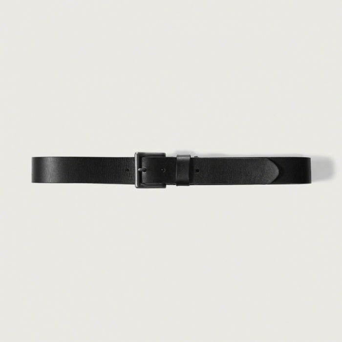 ◆【送料無料】【新品】アバクロ【Mensメンズ】ヴィンテージレザーベルト/Black【Classic Leather Belt】【Abercrombie&Fitch】【本物保証】