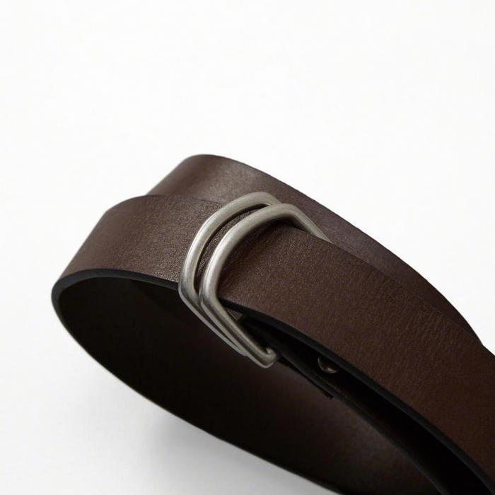 ◆【送料無料】【新品】アバクロ【Mensメンズ】ダブルリング レザーベルト/Brown【Leather D-Ring Belt】【Abercrombie&Fitch】【本物保証】