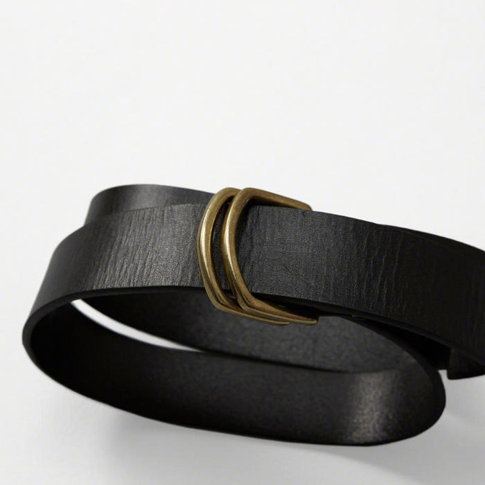 【送料無料】【新品】アバクロ【Mensメンズ】ダブルリング レザーベルト/Black【Leather D-Ring Belt】【Abercrombie&Fitch】【本物保証】