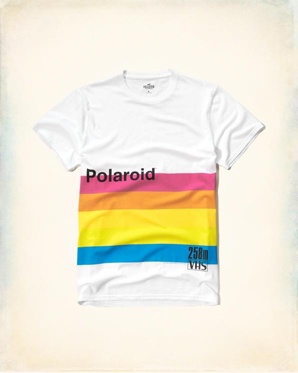 【新品】ホリスター【Mensメンズ】ポラロイドグラフィックTシャツ(半袖)/White【Polaroid Graphic Tee】【HOLLISTER Co.】【本物保証】