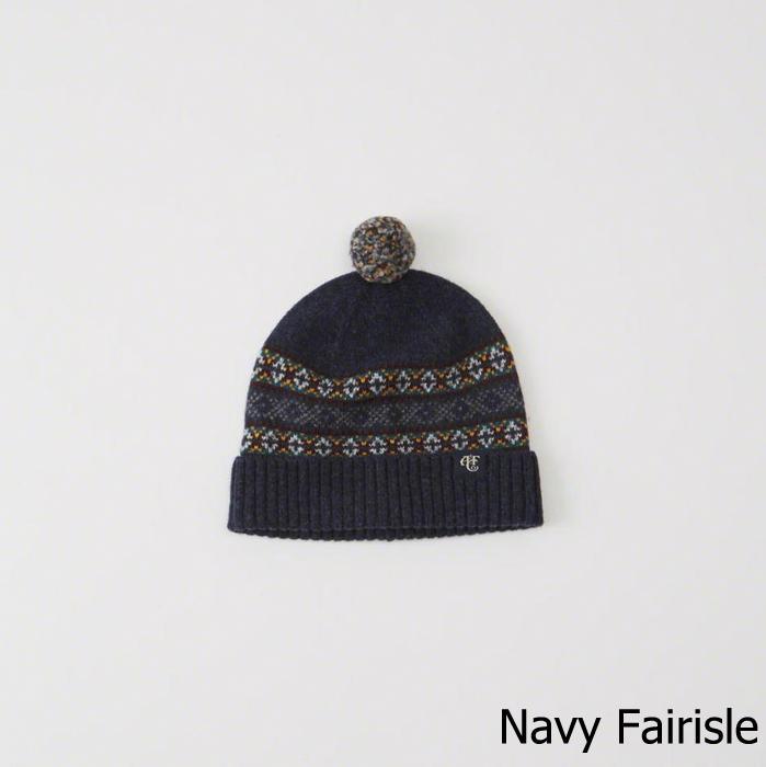 ◆【送料無料】【新品】アバクロ【Mensメンズ】ニットキャップ/Navy Fairisle【Knit Beanie】【Abercrombie&Fitch】【レディース】【男女兼用】【本物保証】