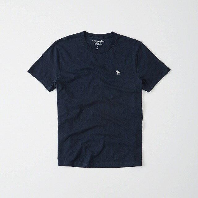 ◆【送料無料】【新品】アバクロ【Mensメンズ】クルーネックTシャツ(半袖)/Navy【Icon Crew Tee】【Abercrombie&Fitch】【本物保証】